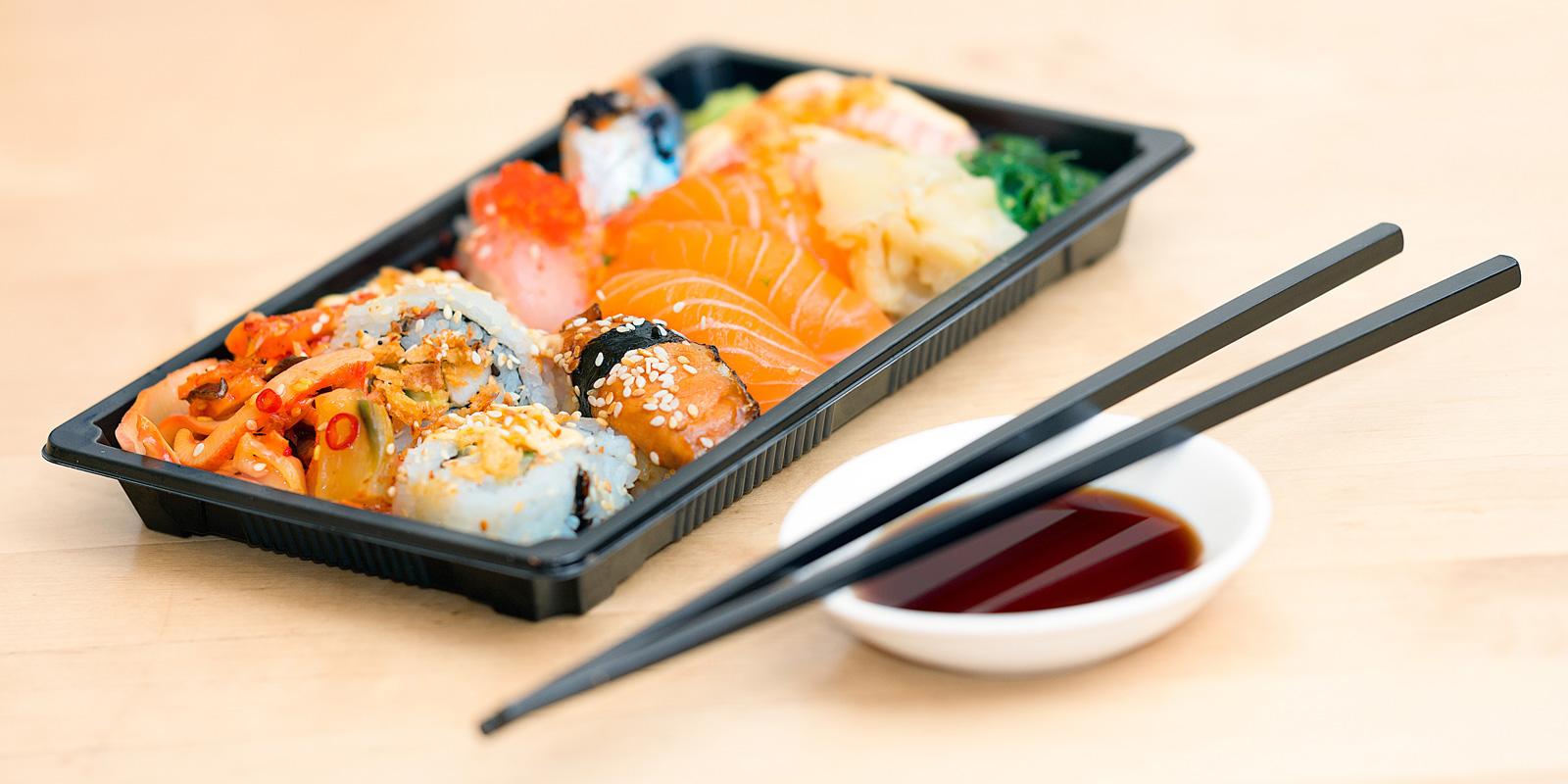 sushi hemkörning västerås